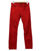 PRADA(プラダ)の古着「スキニーパンツ」 レッド