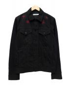 GIVENCHY(ジバンシィ)の古着「STAR DENIM JACKET」|ブラック
