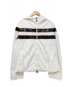 MONCLER(モンクレール)の古着「ナイロンフーデッドジャケット」|ブラウン×ホワイト