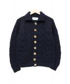 INVERALLAN(インバーアラン)の古着「ニットジャケット」|ネイビー