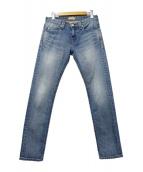 YANUK(ヤヌーク)の古着「リラックススリムデニムパンツ」|インディゴ