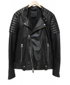 ALL SAINTS(オールセインツ)の古着「ダブルライダースジャケット」|ブラック