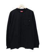 Supreme(シュプリーム)の古着「L/S POCKET TEE」|ブラック