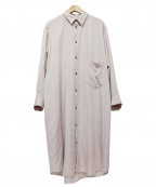 Ujoh(ウジョー)の古着「シャツワンピース」|ピンク
