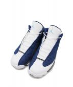 NIKE(ナイキ)の古着「AIR JORDAN 13 RETRO FLINT GREY」 ホワイト×ブルー