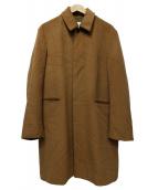 Adam et Rope(アダムエロペ)の古着「ウールメルトンバルカラーコート」|ブラウン
