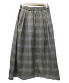 Dulcamara(ドゥルカマラ)の古着「よそいきワイドサルエルパンツ」|ブラウン×グレー