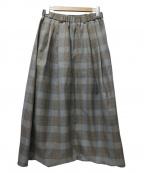 Dulcamara(ドゥルカマラ)の古着「よそいきワイドサルエルパンツ」 ブラウン×グレー
