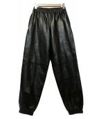 BURBERRY(バーバリーズ)の古着「プロンジェラムスキントラックパンツ」|ブラック