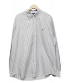 RALPH LAUREN(ラルフローレン)の古着「チョークSTボタンダウンシャツ」|グレー
