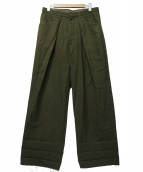 UNUSED(アンユーズド)の古着「DUCK WIDE PANTS」|グリーン