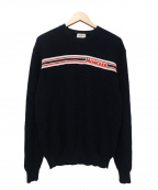 MONCLER()の古着「SWEATER WITH LOGO」|ネイビー