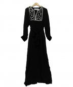 sara mallika(サラマリカ)の古着「Rayon star dress」|ブラック