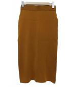 Noble(ノーブル)の古着「16Gソウバリニットスカート」|ブラウン