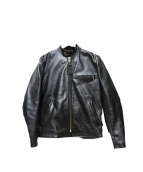 VANSON(バンソン)の古着「ライナー付レザージャケット」|ブラック