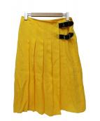 ONEIL OF DUBLIN(オニール オブ ダブリン)の古着「リネンベルト付スカート」|イエロー