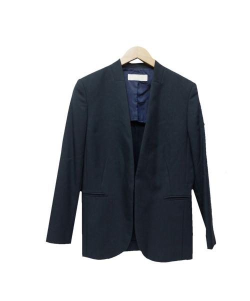 BALLSEY(ボールジィ)BALLSEY (ボールジィ) ノーカラージャケット ネイビー サイズ:38の古着・服飾アイテム
