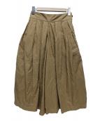 HARVESTY(ハーベスティー)の古着「キュロットスカート」|ブラウン