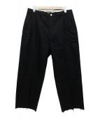 LEVIS(リーバイス)の古着「STA-PREST WIDE LEG CROP MINERA」|ブラック