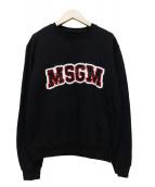 MSGM(エムエスジーエム)の古着「スパンコールロゴスウェット」|ブラック