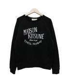 MAISON KITSUNE(メゾンキツネ)の古着「ロゴスウェット」|ブラック