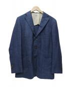 TOMORROW LAND(トゥモローランド)の古着「シルクコットンツイード 2Bテーラードジャケット」|ネイビー