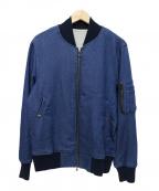 SHIPS JET BLUE(シップスジェットブルー)の古着「スウェットデニムMA1」 ネイビー
