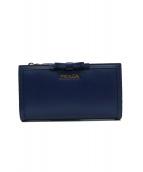 PRADA(プラダ)の古着「2つ折り財布」|ブルー
