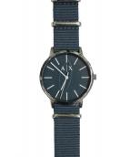 ARMANI EXCHANGE(アルマーニエクスチェンジ)の古着「腕時計」|ネイビー