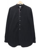 FRANK LEDER(フランクリーダ)の古着「BLACK COTTON BAND COLLAR OLD S」|ブラック