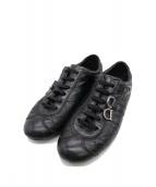 Christian Dior(クリスチャンディオール)の古着「レザースニーカー」|ブラック