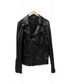 LHP(エルヘイチピ)の古着「レムレザーライダースジャケット」|ブラック