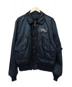 ALPHA(アルバ)の古着「フライトジャケット」|ネイビー