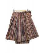 COMME des GARCONS(コムデギャルソン)の古着「変形ラップスカート」 マルチカラー