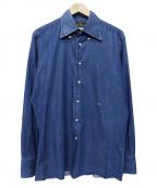 FREEMANS SPORTING CLUB(フリーマンズスポーティングクラブ)の古着「ボタンダウンシャツ」|ブルー
