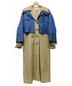 Sea NEW YORK(シーニューヨーク)の古着「デニムトレンチ」|ベージュ×ブルー