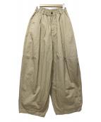 HARVESTY(ハーベスティ)の古着「コットン チノクロス サーカスパンツ」|ベージュ