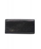 Christian Dior(クリスチャンディオール)の古着「2つ折り長財布」 ブラック