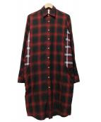 glamb(グラム)の古着「サリバンロングシャツ」|レッド