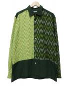 PERIOD FEATURES(ピリオドフィーチャーズ)の古着「デザインシャツ」 グリーン