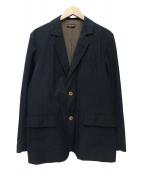 FRANK LEDER(フランクリーダー)の古着「リネン混テーラードジャケット」|ネイビー
