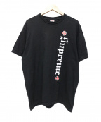 Supreme()の古着「Independent Old English Tee」|ブラック