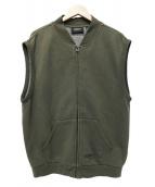 FOG ESSENTIALS(フェアオブゴット エッセンシャル)の古着「Fleece Zip Vest」|オリーブ