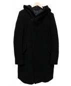 KAZUYUKI KUMAGAI ATTACHMENT(カズユキクマガイアタッチメント)の古着「メルトンフーデッドコート」 ブラック
