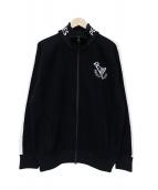 PEARLY GATES(パーリーゲイツ)の古着「ニットトラックジャケット」|ブラック