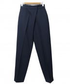 BLACK by moussy(ブラックバイマウジー)の古着「center press trousers」 ネイビー