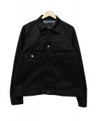 FUMITO GANRYU(フミト ガンリュウ)の古着「WATER RESISTANT PLEATED BLOUSO」 ブラック