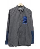 UNDERCOVERISM(アンダーカバイズム)の古着「マルクス刺繍アナーキーシャツ」 グレー