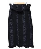 ROBE DE CHAMBRE COMME DES GARC(ローブドシャンブル コムデギャルソン)の古着「ラップスカート」 ネイビー