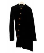 COMME des GARCONS(コムデギャルソン)の古着「アシンメトリージャケット」|ブラック